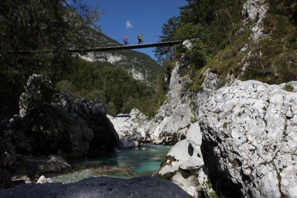 Il ponte Sospeso sull'Isonzo - Trekking in Slovenia