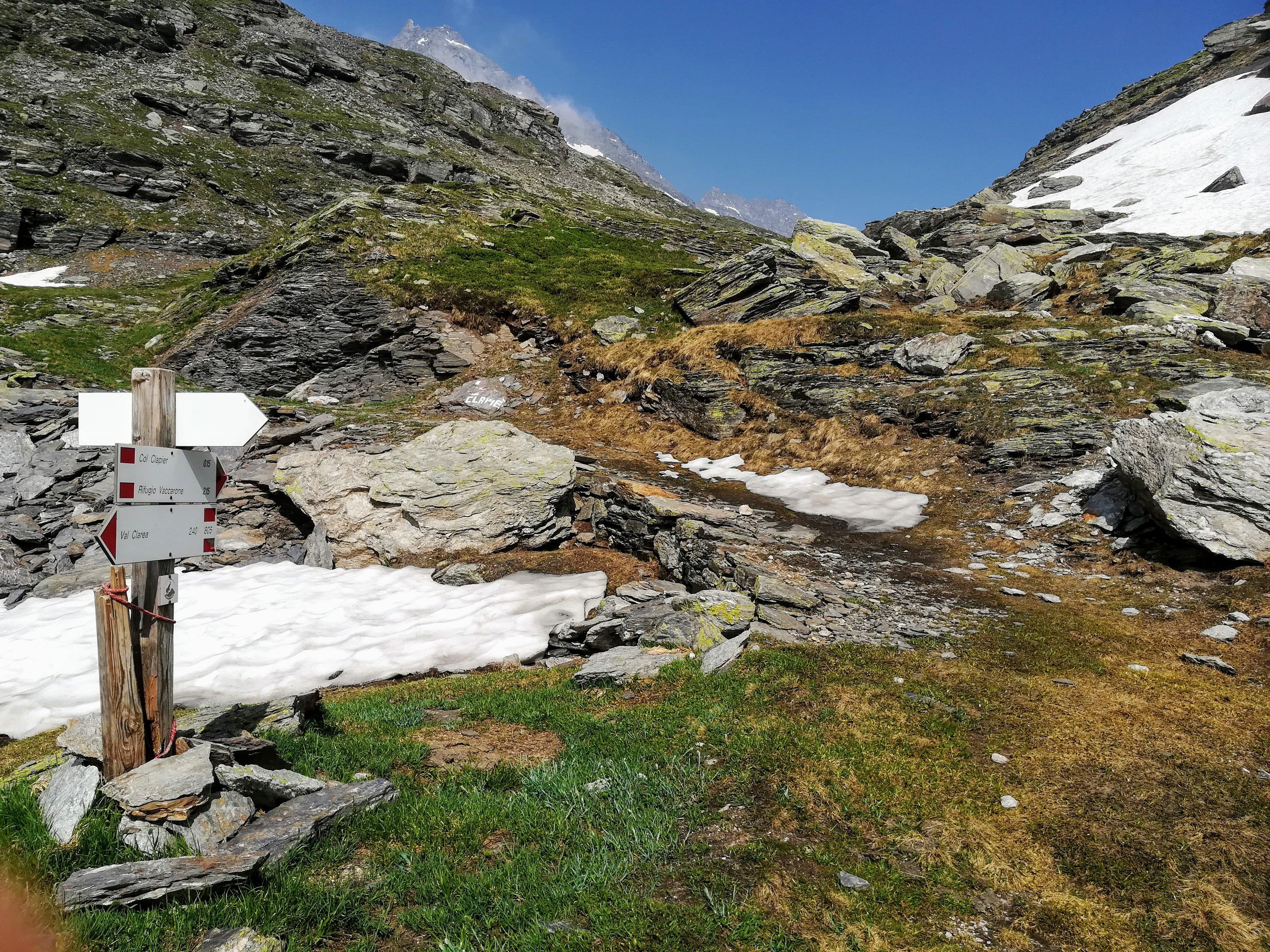 Al Colle Clapier dalla Val Clarea