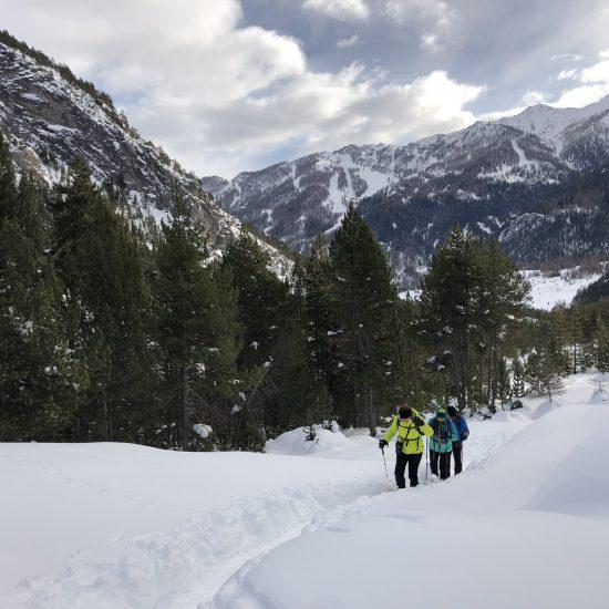Ciaspole in Valle Stretta