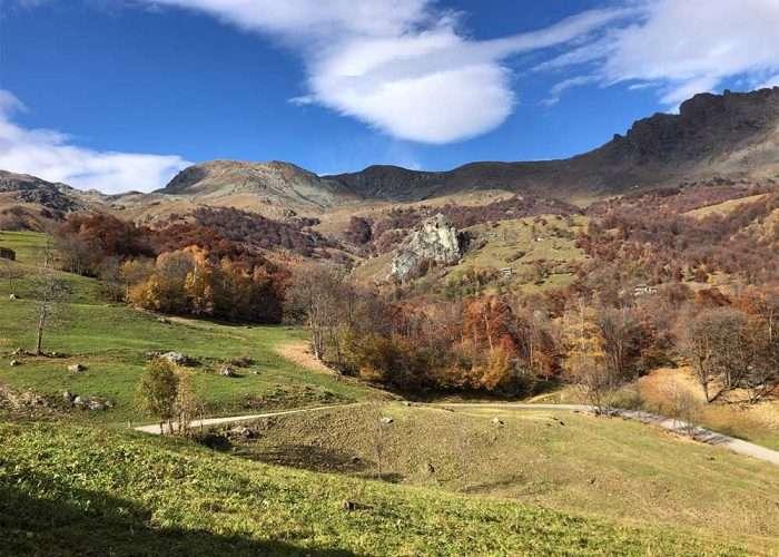 Vista dalla frazione Tornetti di Viù nelle Valli di Lanzo