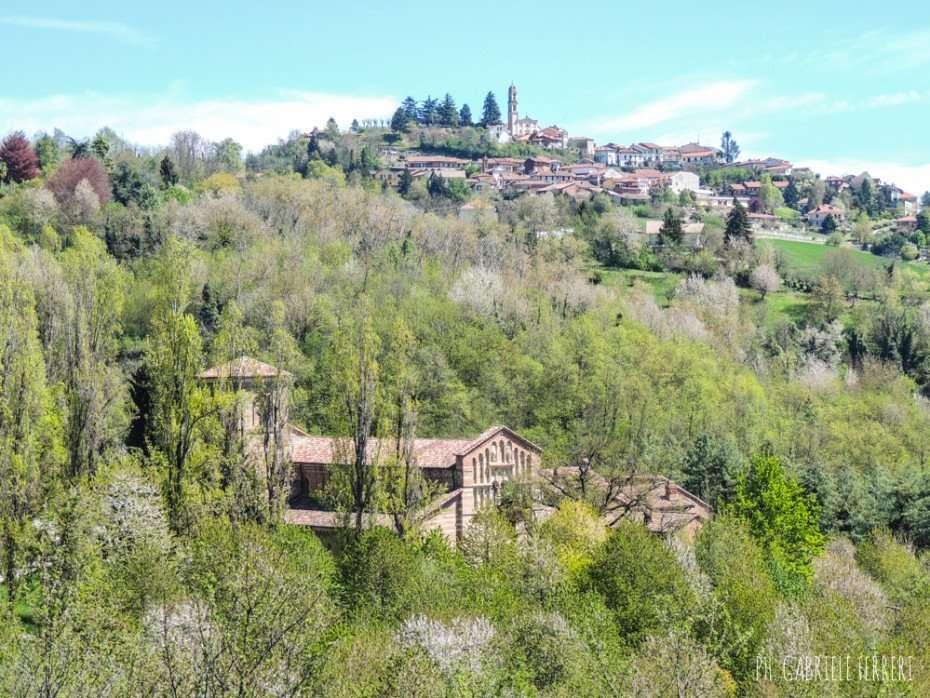 Il paese di Albugnano nel Monferrato astigiano